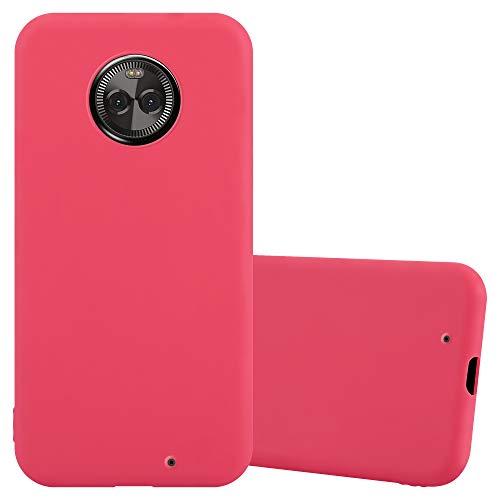 Cadorabo Custodia per Motorola Moto X4 in Candy Rosso - Morbida Cover Protettiva Sottile di Silicone TPU con Bordo Protezione - Ultra Slim Case Antiurto Gel Back Bumper Guscio