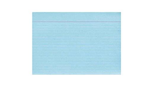 Idena 375023 - Karteikarten DIN A6, 100 Stück, 180 g/m², holzfreies Papier, eingeschweißt, liniert, blau