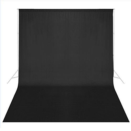 Fondo Negro Phot-R, de 6 x 3 m, para Estudio de fotografía Profesional, de Muselina, Lavable a máquina, para Fotos y vídeos