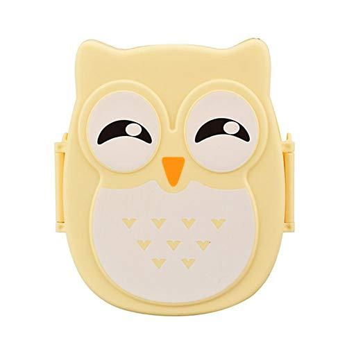 KAR Portable Cartoon Owl Déjeuner Boxmicrowavable Food Square Container Boîte De Rangement avec Compartiment Bento Boxs Élève De L'école De Pique-Nique,C