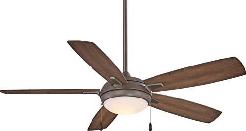 Minka-Aire F534L-ORB, Lun-Aire 54' LED Ceiling Fan, Oil Rubbed Bronze Finish with Dark Pine Blades