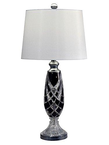 Dale Tiffany GT17082 - Lámpara de mesa con escudo negro, 29 pulgadas de alto, cristal
