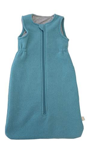 Disana Walk-Schlafsack ohne Arm 100% Bio-Merino-Schurwolle (Lagoon, 02-80 cm)