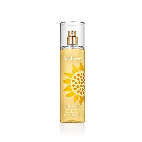 Elizabeth Arden Sunflowers – Fine Fragrance Mist femme/women, 236 ml, mildes Körperspray mit floraler Note, frischer Damenduft nach Sonnenblumen, sommerlicher Zerstäuber