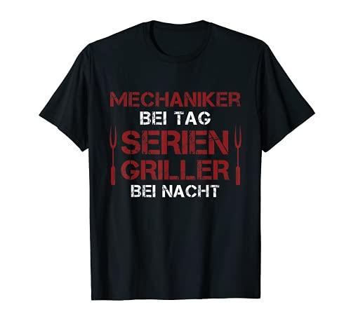 Hombre Barbacoa de coche mecánica en día Grillmeister en barbacoa de noche Camiseta