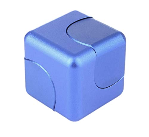 nancheng Fidget Spinner Anti-Anxiety Helps Focusing Fidget Toys Premium Quality CNC Metallic Focus Toy for Kids & Adults - 4-in-1 Spinning Top, Z Spinner, Cube Spin - Cube Spinner (Blue)
