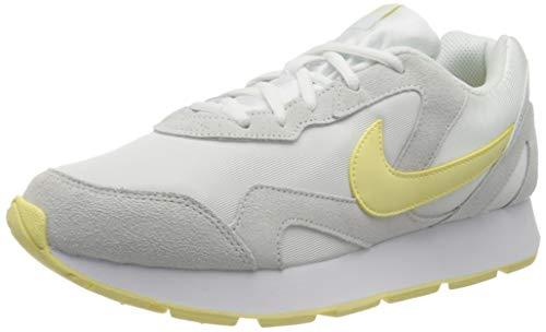 Nike Delfine, Zapatillas de Trail Running Mujer, Multicolor (White/Bicycle Yellow 104), 37.5 EU