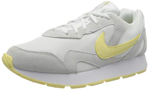Nike Delfine, Zapatillas de Trail Running para Mujer, Multicolor (White/Bicycle Yellow 104), 36 EU