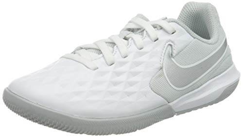 Nike Legend 8 Academy IC, Zapatillas de Fútbol, Blanco (White/Chrome/Pure Platinum 100), 27 EU