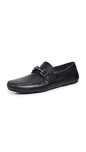 SALVATORE FERRAGAMO Men's Parigi Bit Driver Shoes, Black, 11 Medium US