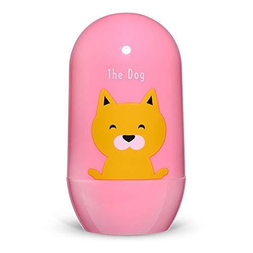 MINGZE Juego de cortaúñas para bebé, Kit de manicura bebés 4 en 1 con cortaúñas seguro, tijeras, pinzas y lima de uñas, juego de cortaúñas para recién nacidos, niños pequeños y niños (Cachorro rosa)