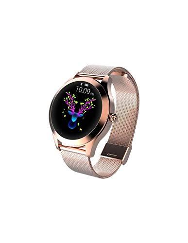 Roneberg Smartwatch, RKW10 Damski, elegancki zegarek z funkcjami sportowymi. 9 trybów sportowych, crokomierz, Miernik ciśnienia oraz tętna.
