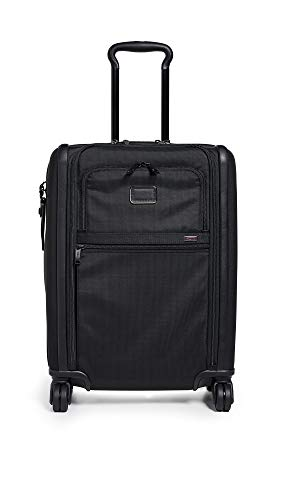 Tumi Men's Alpha Continental Dual Access 4 Wheel Carry On Suitcase, Black, One Size