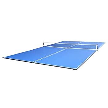 JOOLA Tetra - 4 Piece Ping Pong Table Top for Pool Table - Includes Ping Pong Net Set - Full Size Table Tennis Conversion Top for Billiard Tables - Easy Assembly & Compact Storage - Incl Foam Backing