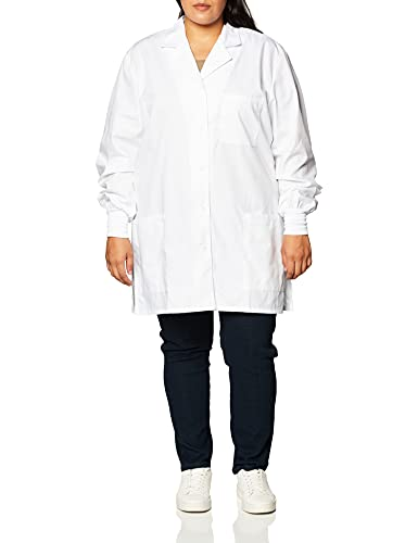Cherokee Women's Scrubs 32' Cuffed Sleeve Lab Coat, White, Large