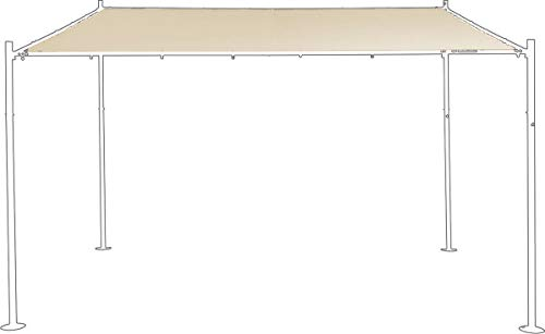 SORARA Cubierta de repuestopara Wall Gazebo | Arena | 285 x 400 cm (DXW) | Estilo Moderno del pabellón al Aire Libre y Refugio Pergola Pabellón