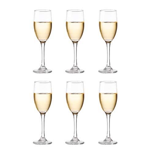 Copas De Copa De Champán De Cristal Sin Plomo, 140 Ml, Transparentes (juego De 6), Perfectas Para El Hogar, Restaurantes Y Fiestas