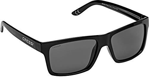 Cressi Bahia Sunglasses Gafas De Sol Deportivo, Unisex adulto, Negro/Lentes espejados