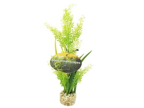 Cheeko Advertenties Tropische Plant In Gras Aquarium Décor, 20 cm
