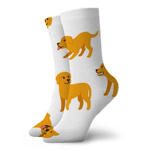 Kteubro Crew Sock Cartoon Dog Poses Set Classic Senderismo Caminar Viajar Calcetines