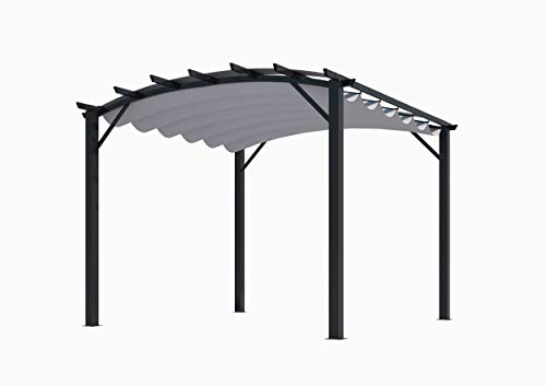 Habrita Pergola Structure Mixte 11,22 m2 - Toile Couleur Grise