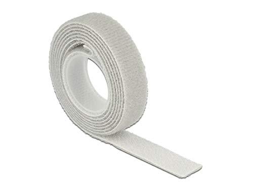 DeLOCK Rollo de cinta de velcro para cables (1 m x 20...