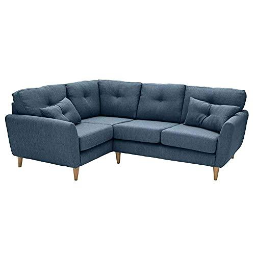 FACAZ Sofá Cama Reversible Compacto 3 en 1, sofá Cama esquinero de Tela Moderno Retro con Almacenamiento y Asiento con muelles, sofá Cama reclinable Ajustable Multifuncional, Gris