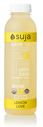 Suja Organic Cold-Pressed Juice, Lemon Love, 16 Fl Oz (Pack of 6), 100% Plant-Powered Vegetable and Fruit Juices, Vegan, Gluten-Free, Non-GMO, Made In USA