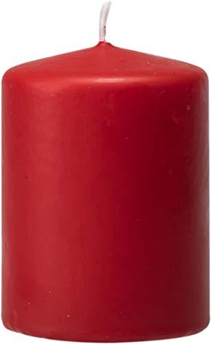 safe candle Stumpenkerze selbstverlöschend, Höhe 8 cm/Ø 6 cm, 22 Std. Brenndauer (Rubin)