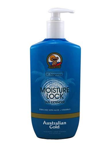 Australian Gold Moist Lock Tan Extender 16 Ounce Pump (473ml) (3 Pack)