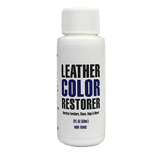 Leather Hero Leather Color Restorer & Applicator- Refinish, Repair, & Renew Leather & Vinyl Sofa, Purse, Shoes, Auto Car Seats, Couch 2oz (Dark Brown)