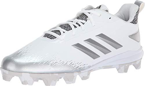 adidas Adizero Afterburner V Baseballschuh für Herren, Weiá (Weiß/Silber/Metallic/Grau), 40 EU