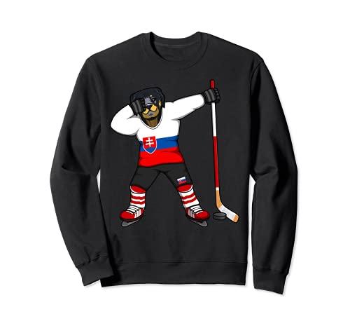 Dabbing Rottweiler Slowakei Eishockey Fan Slowakische Sport Sweatshirt