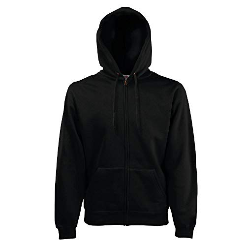 Fruit of the Loom - Kapuzen Sweat-Jacke 'Hooded Zip' L,Black
