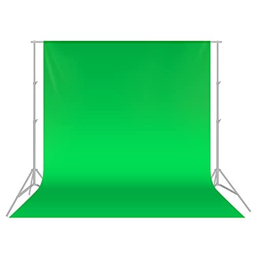 Neewer 3 x 3,6M PRO Photo Studio Premium Polyester Faltbarer Hintergrund Hintergrund für Fotografie, Video und Fernsehen (NUR Hintergrund) - GRÜN