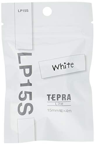キングジム Lite専用テープ テプラ LP15S ホワイト