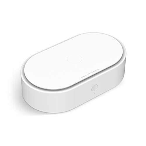LYFRO Capsule UVC Disinfection Box for Smartphones/Wallet/Jewelry/Watch/Smart Watches/Air Pods/Currency/Keys/Mask CA 73829 (White)