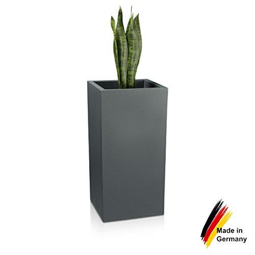 Pflanzkübel DECORAS Kunststoff-Pflanztröge – versch. Größen – basalt grau – frostsicher & UV-beständig (8 Jahre Garantie) – TÜV-geprüfte Qualität – Premium Blumenkübel