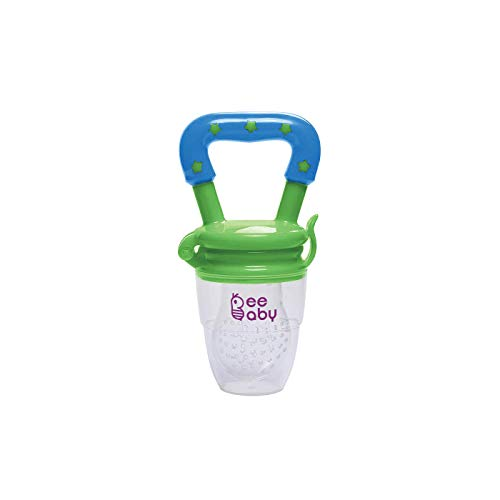 Beebaby Silicone Food and Fruit Nibbler with Extra Silicone Mesh (Blue & Green)