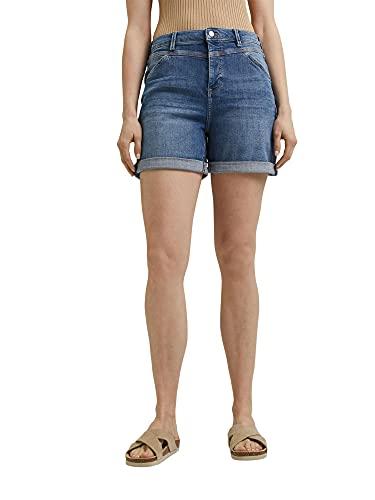 ESPRIT Damen 051EE1C318 Jeans-Shorts, 902/BLUE MEDIUM WASH, 34