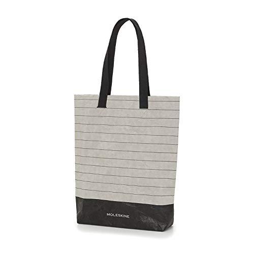 Moleskine Go Shopper aus Papier, Personalisierbar, mit Griff aus Baumwolle, 11 x 15,75 x 3,25 cm, Liniert Schwarz