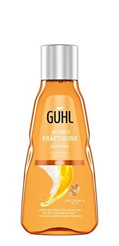 Guhl Intensiv Kräftigung Bier Shampoo - Reduzierter Haarbruch für kraftloses, feines Haar - Hotellerie- und Reisegröße - 50 ml