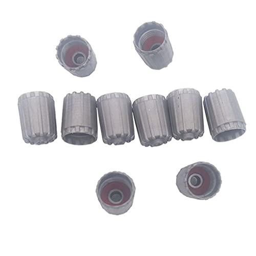 Tapas de válvula de neumático con sellos Oring Cubiertas de polvo de válvula de plástico gris para tallos de válvula TPMS Accesorios de neumáticos de coche TPMS25306