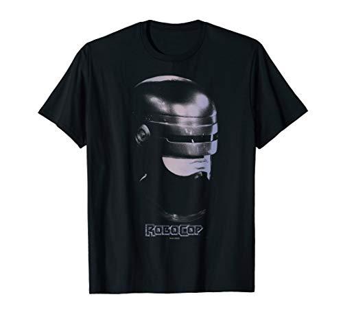 Official RoboCop Big Face Fade T-Shirt, Black or Navy for Men or Women, S to 3XL