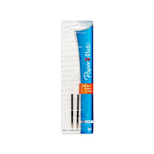 Paper Mate G-Force, Titanium and X-Tend Medium Tip Black Lubriglide Ink Pen Refills, Pack of 2 (5640736PP)