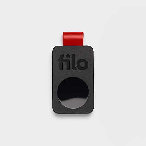 FiloTag Keyfinder 2020 | Localizzatore di Oggetti tramite App. Tracker Bluetooth | Ritrova gli Oggetti che Hai Perso | Misure: 25x41x5mm | Pack da 1, Colore Nero