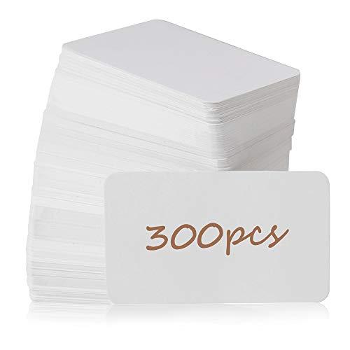 "Primbeeks 300pcs Blank Business Cards, Premium Blank White Cards, 3.5"" x 2.2"" Small Blank Cards, Blank Cardstock Cards, Small Note Cards, White Blank Cards, White Business Cards, Kraft Paper Cards"