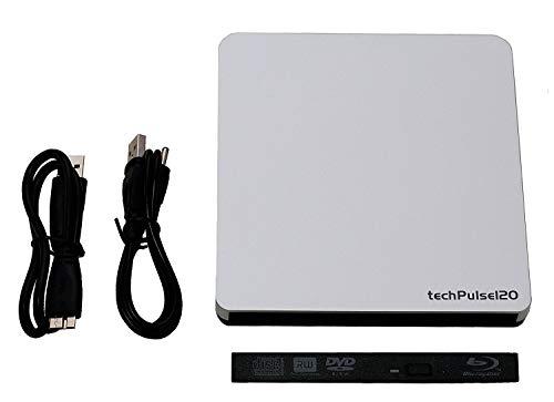techPulse120 externes USB 3.0 Laufwerksgehäuse Leergehäuse (Gehäuse-Hülle ohne Laufwerk) Case Caddy für Slim 12,7 mm SATA Blu-ray/DVD/CD Brenner Combo Drive Laufwerke - Easy Click Einbau