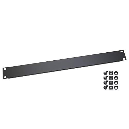 HMF 66470-02 Blindabdeckung für Serverschrank | 19 Zoll | 1 HE | Schwarz