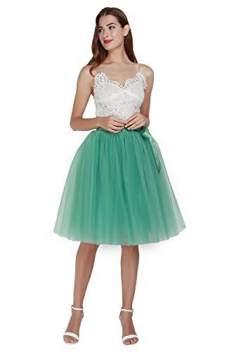 Falda de tul para mujer, línea A, vestido de baile, retro,